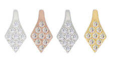 Sterling Silver Rhombus Bails 11x5mm CZ Plated Findings for SWAROVSKI Crystals