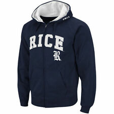 Rice Owls Stadium Athletic Arch & Logo Full Zip Hoodie - Navy - College