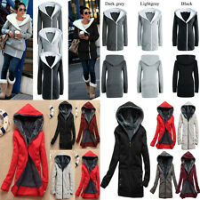 Thicken Warm Womens Winter Long Coat Hooded Parka Overcoat Outwear Fleece Jacket