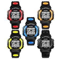 Waterproof Digital Mens Boy's Watch LED Quartz Alarm Date Sports Wrist Watch NEW