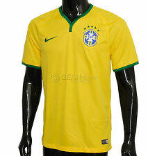 New $90 Nike CBF Brazil Soccer Jersey Mens National Team - Yellow / Home