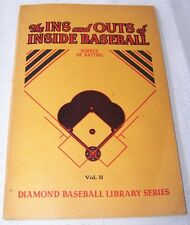 THE INS AND OUTS OF INSIDE BASEBALL 1945 INSTRUCTIONAL MANUAL HONUS CUBS VINTAGE