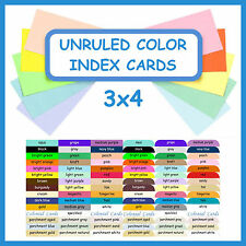 3x4 Project Life Color Cardstock Journal Cards ~ Blank Journaling Cardstock Card