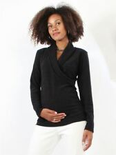 New Japanese Weekend Maternity and Nursing Black Side Sweep Light Knit Sweater