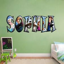 PERSONALIZED ANY NAME Frozen Decal Removable WALL STICKER Disney Elsa Anna