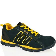 MENS STEEL TOE CAP LEATHER WORK SAFETY OUTDOOR LIGHTWEIGHT TRAINERS SHOES 7-12