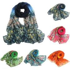 Flower Womens Ladies Voile Stole Scarves Long Neck Wraps Shawl Scarf WHOLESALE