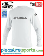 O'Neill Men's Rashguard Long Sleeve 50+ UV Protection Rash Guard White Top Rated