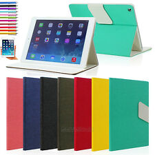 Classic leather Folio Smart Case Cover Stand for iPad Air Retina Display + Gift