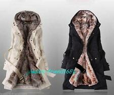 Hot Women Girl  Winter Warm Hooded  Outerwear Quilted Coat Jacket Overcoats Wrap