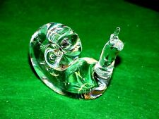 """VINTAGE CRYSTAL STEUBEN SNAIL FIGURINE Signed Perfect  3"""" x 3""""  FREE SHIPPING"""
