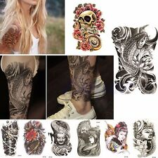 Large Sexy Tattoo Skull Temporary Body Arm Art Stickers Removable Waterproof New