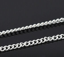 Wholesale New Silver Plated HOTSELL Links-Opened Curb Chains 2.5mmx2mm