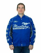 Ford Mustang Jacket Royal Blue Twill Jacket Embroidered Logos Mustang Jacket
