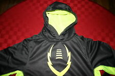 BOYS NIKE THERMA FIT FOOTBALL HOODIE JACKET YOUTH GRAY & NEON YELLOW