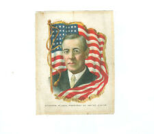 1910 ITC SC-9 RULERS WITH FLAGS silk WOODROW WILSON