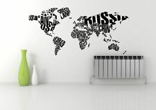 WORLD MAP ATLAS QUOTE ABSTRACT WALL ART STICKER DECAL MURAL STENCIL VINYL PRINT