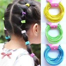 10pcs girls kids hair ties bands 2mm Rubber Band Ties Ponytail Hair Accessories