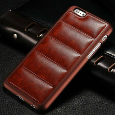 New Vintage Luxury Soft Leather Case Hard Plastic Back Cover For iPhone 6/6 Plus