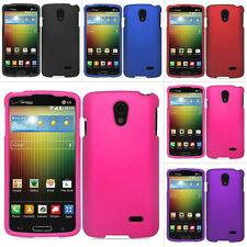 For LG Lucid 3 4G LTE VS876 Rubberized Hard Matte Case Snap On Cover Accessory