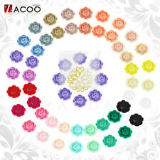Resin Fashion Flower Flatback Fit Cabochon Setting Wholesale 25 color Choose
