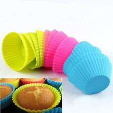 Beautiful Silicone Round Cake Muffin Chocolate Cupcake Liner Baking Cup Mold Hot