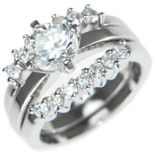 1.81CTW ROUND BRILLIANT STONES WEDDING RING SET (3 RINGS) size #5,6,7,8,9,10