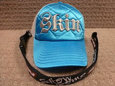 "Skin Women's Trucker Hats ""Gothic Quilted"" Blue +  Free: Belt Buckle or Lanyard"