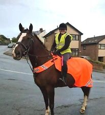 GEE TAC NEW WATERPROOF HORSE HI VIZ RIDE ON EXERCISE RUG SHEET LINED WRAP ROUND
