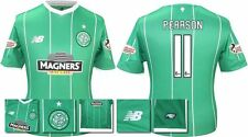 *15 / 16 - NEW BALANCE ; CELTIC AWAY SHIRT SS + PATCHES / PEARSON 11 = SIZE*