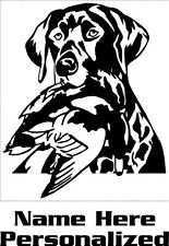 Customized Labrador Retriever & Duck Decal Lab & Duck Decal Pet stickers 3537P