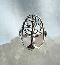 Large Tree of Life Ring Solid 925 Silver~Reiki~Pagan~Shamanic~Norse~Jewellery