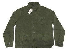 $295 Double Ralph Lauren RRL Mens Solid Green Slim Shawl Cardigan Sweater Jacket