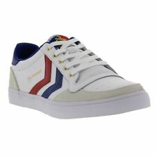 New Hummel Slimmer Stadil Lo Mens Low Canvas Trainers Size UK 7-14
