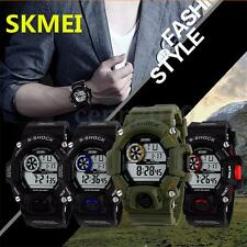 SKMEI Men's S-SHOCK Waterproof Sport Army Alarm Date Analog&Digital Wrist Watch