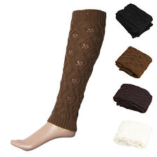 Womens Fashion Crochet Knitted Trim Boot Cuffs Toppers Leg Warmers Socks Unique
