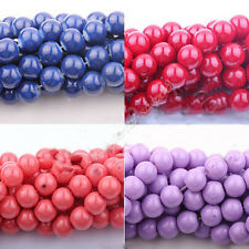 Wholesale 50Pcs Arrival Czech Crystal Glass Round Craft Loose Beads 4/6/8/10MM