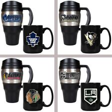 Choose Your NHL Team 20oz Plastic Stainless Steel Travel & 15oz Ceramic Mug Set