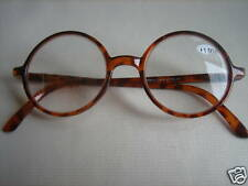 ROUND Plastic Frames READING  GLASSES spring loaded temples #R1007