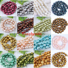 Wholesale 8-9mm Colors Cultured Rice Oval Freshwater Pearl Shell Loose DIY Bead