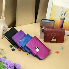 Women PU Leather Wallet ID Credit Card Holder Organizer Multiple Card Slots 8G33