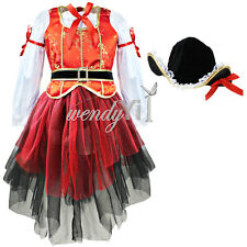 Girls Kids Fancy Dress Top Skirt Hat Halloween Cosplay Party Costume Outfit 2-10