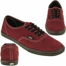 VANS Classic Authentic Lo Pro Skater Trainers Leather red NEW