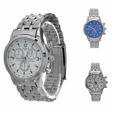 Men's Stainless Steel Band Watch Date Analog Quartz Sport Wrist Watch New
