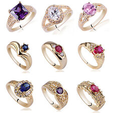 Wholesale 10pcs Assorted Lot Gold Plated 925 Sterling Silver Women Rings Bargain