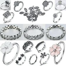 Size 6-9 Fashion Fine Genuine 925 Silver Filled Engagement Wedding Ring Jewelry