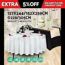 Tablecloths Wedding Table Cloth Rectangle Round Event Party Banquet Trestle