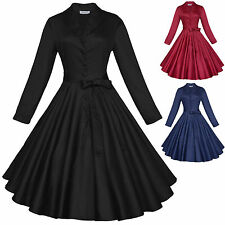Maggie Tang 1950s 60s Vintage Party Audrey Hepburn Rockabilly Pinup Swing Dress