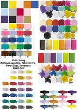 Party Decorations Tablecovers Napkins Foil Latex Balloons Party Bags Streamers
