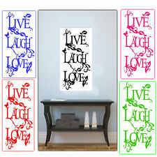 Wall Stickers - Decals - Vinyl wall Art - Live Laugh Love 5 Colours to Choose